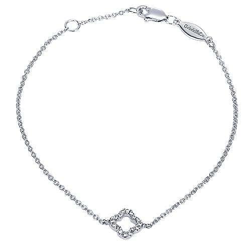 14k White Gold Contemporary Chain Bracelet