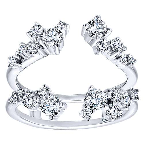 14k White Gold Contemporary Enhancer Anniversary Band angle 5