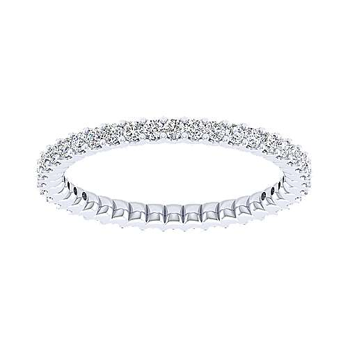 14k White Gold Contemporary Eternity Anniversary Band angle 5