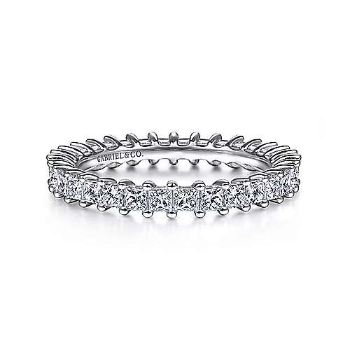 Gabriel - 14k White Gold Contemporary Eternity Anniversary Band
