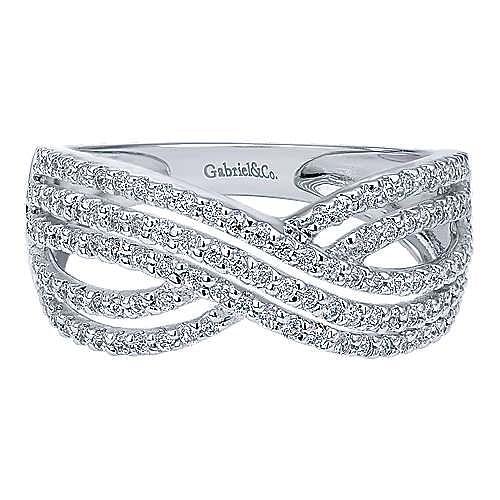 Gabriel - 14k White Gold Contemporary Fashion Ladies' Ring