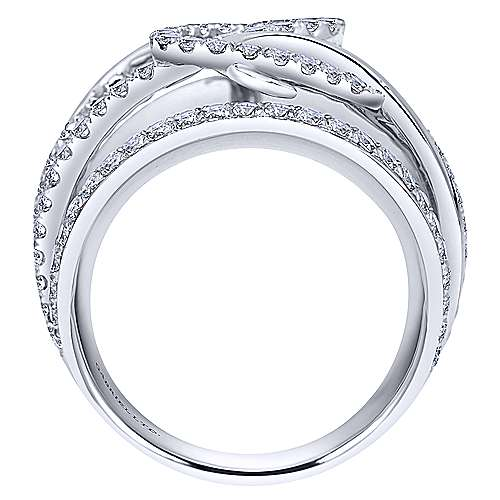 14k White Gold Contemporary Fashion Ladies' Ring angle 2