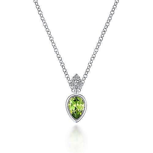 14k White Gold Contemporary Fashion Necklace