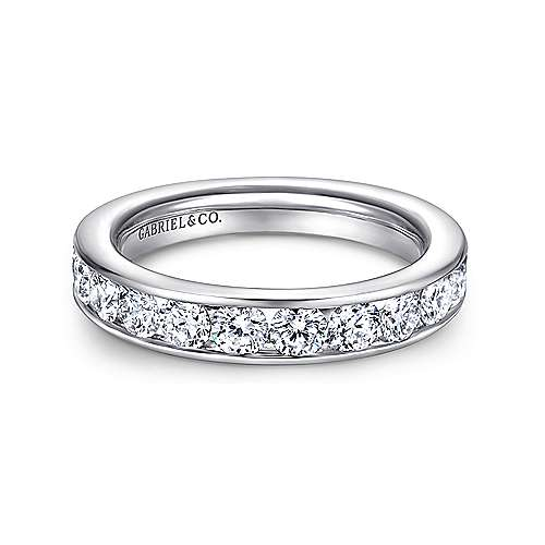 Gabriel - 14k White Gold Contemporary Straight Anniversary Band