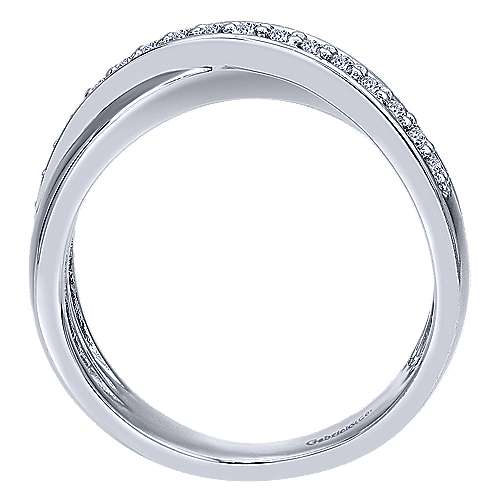 14k White Gold Contemporary Twisted Ladies' Ring angle 2