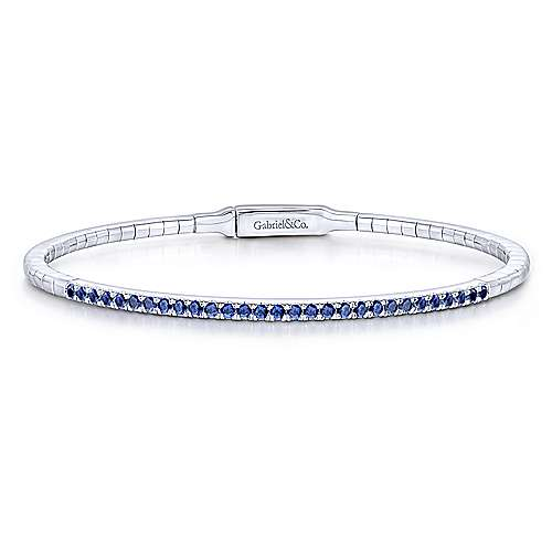 14k White Gold Demure Bangles Bangle angle 1