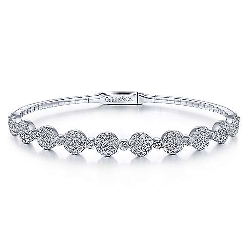 Gabriel - 14k White Gold Demure Bangles Bangle