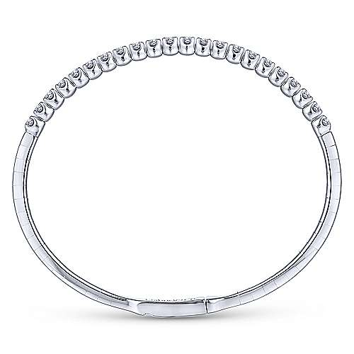 14k White Gold Demure Bangles Bangle angle 3