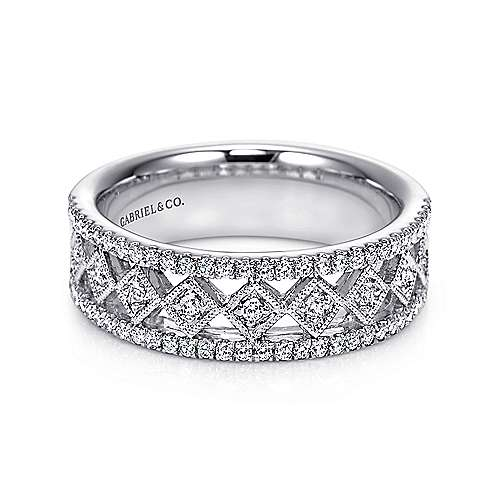 14k White Gold Diamond Anniversary Band