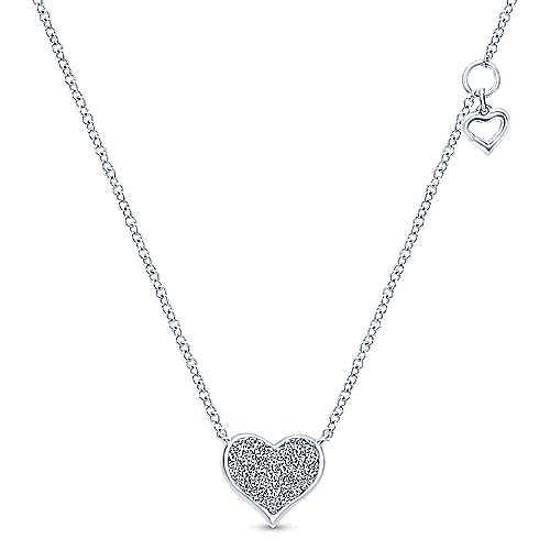 14k white gold diamond encrusted heart pendant necklace nk4538w45jj 14k white gold diamond encrusted heart pendant necklace aloadofball Choice Image