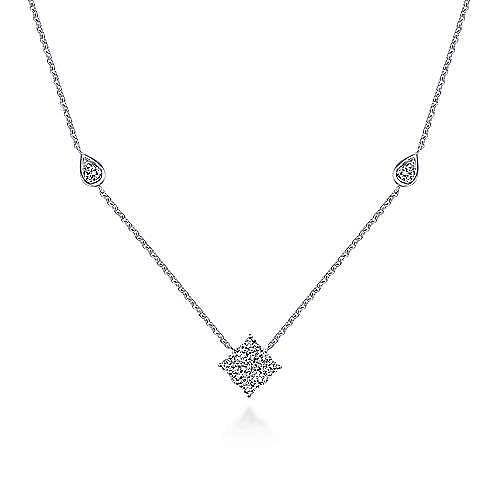 Gabriel - 14k White Gold Diamond Trio Choker Necklace