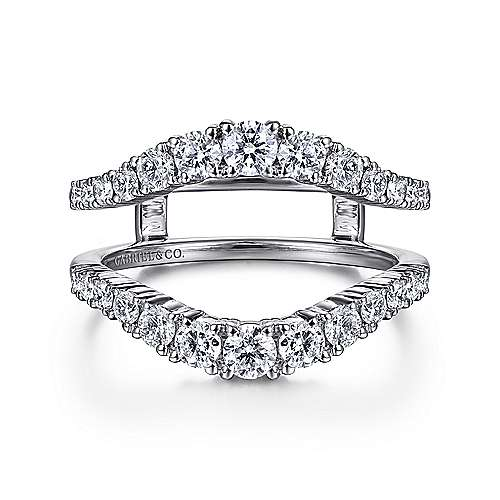 Gabriel - 14k White Gold Enhancer Anniversary Band