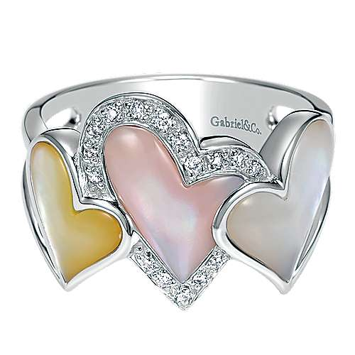 14k White Gold Eternal Love Fashion Ladies' Ring angle 1