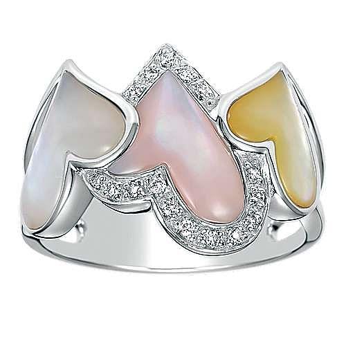 14k White Gold Eternal Love Fashion Ladies' Ring angle 4