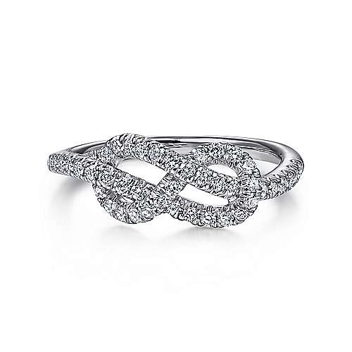 Gabriel - 14k White Gold Eternal Love Fashion Ladies' Ring