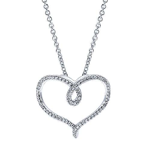 14k White Gold Eternal Love Fashion Necklace angle 1