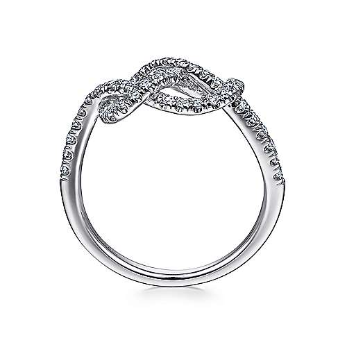 14k White Gold Eternal Love Twisted Ladies' Ring angle 2