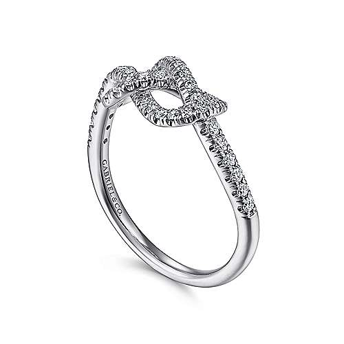 14k White Gold Eternal Love Twisted Ladies' Ring angle 3