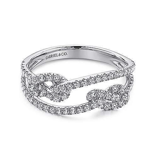 Gabriel - 14k White Gold Eternal Love Twisted Ladies Ring