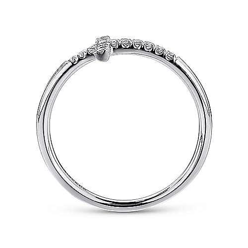 14k White Gold Faith Cross Ladies' Ring angle 2