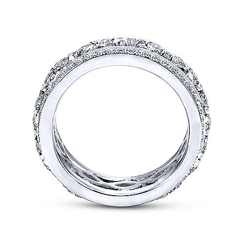 14k White Gold Fancy Eternity Band