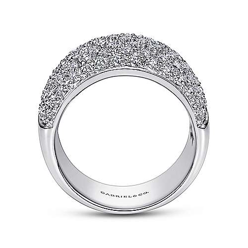 14k White Gold Fancy Pavé Anniversary Band