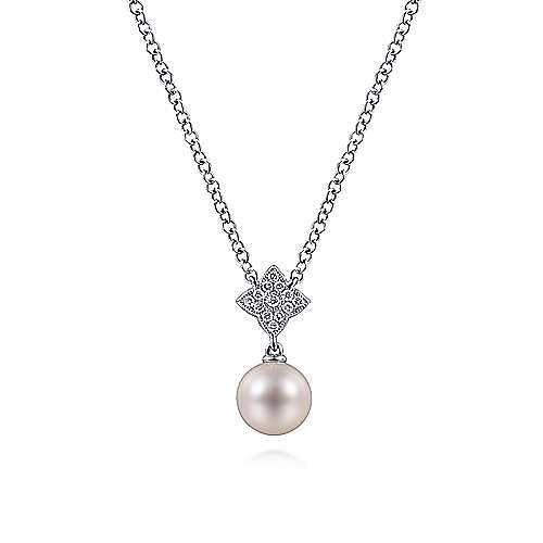 14k White Gold Fashion Cultured Pearl