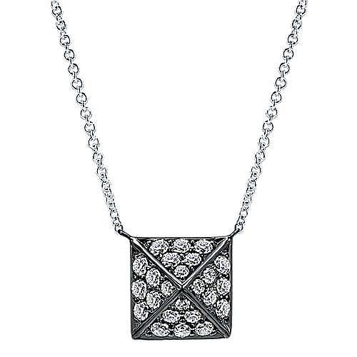 14k White Gold Fierce Fashion Necklace angle 1