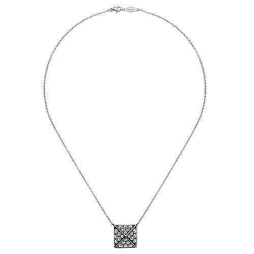 14k White Gold Fierce Fashion Necklace angle 2