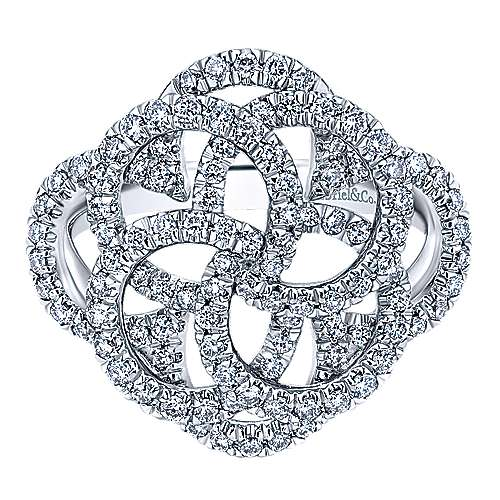 Gabriel - 14k White Gold Flirtation Fashion Ladies' Ring