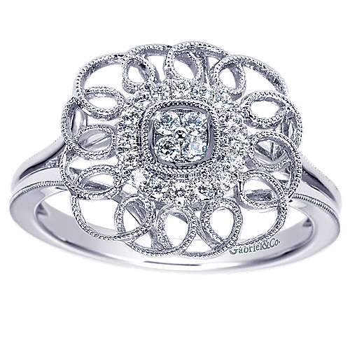 14k White Gold Flirtation Fashion Ladies' Ring angle 5