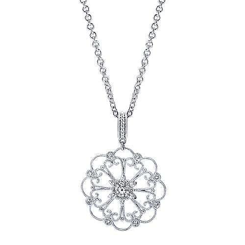 Gabriel - 14k White Gold Flirtation Fashion Necklace
