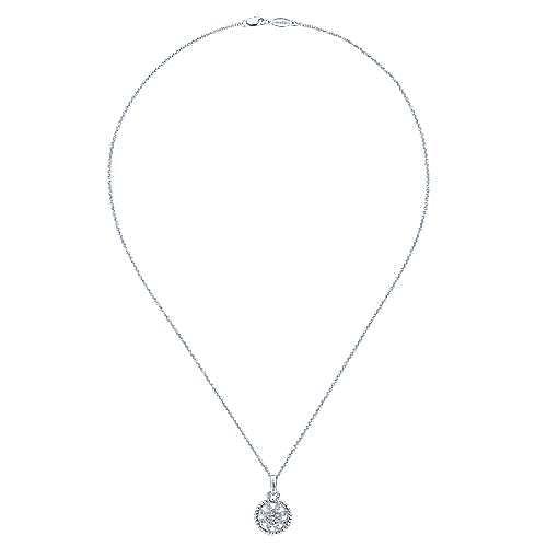 14k White Gold Flirtation Fashion Necklace angle 2