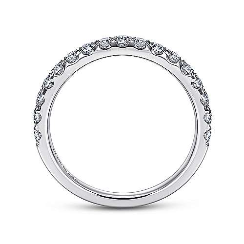 14k White Gold French Pavé Band