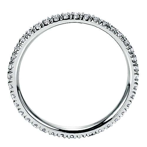 14k White Gold French Pavé Eternity Band
