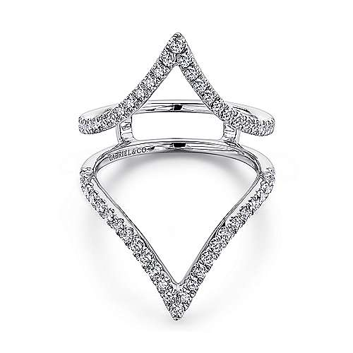 Gabriel - 14k White Gold French Pavé Set Diamond Enhancer