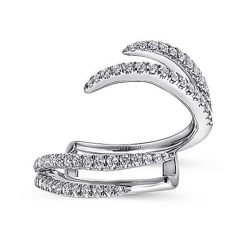 14k White Gold French Pavé Set Diamond Enhancer
