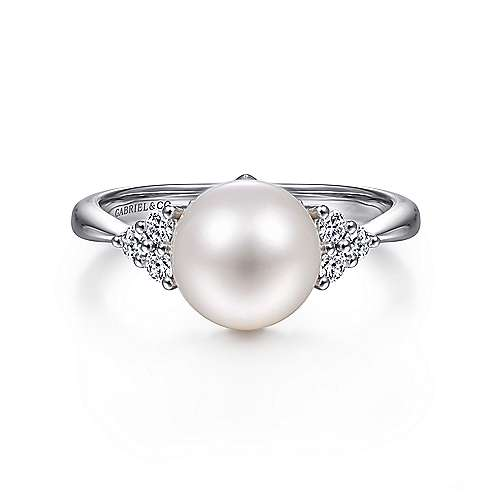 Gabriel - 14k White Gold Grace Classic Ladies' Ring
