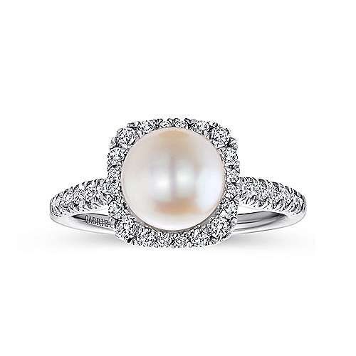 14k White Gold Grace Classic Ladies' Ring angle 4
