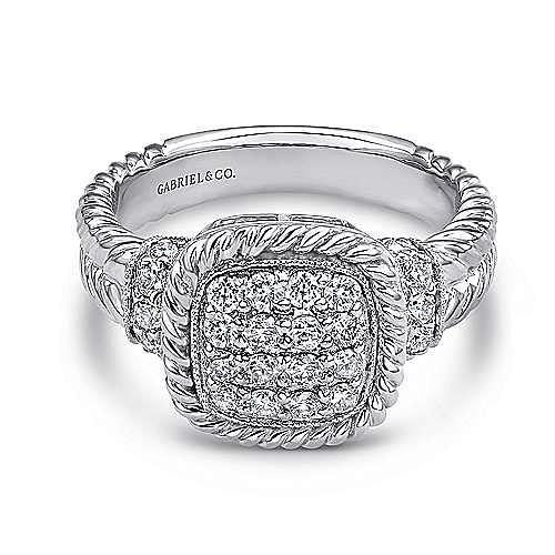 14k White Gold Hampton Classic Ladies Ring