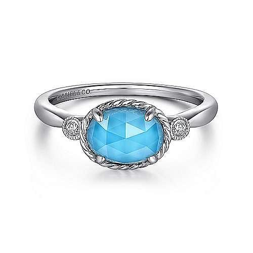 Gabriel - 14k White Gold Hampton Fashion Ladies Ring