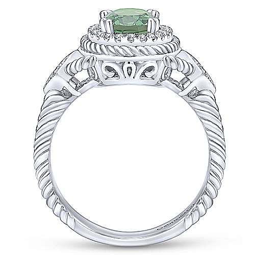14k White Gold Hampton Fashion Ladies' Ring angle 2