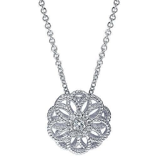 Gabriel - 14k White Gold Hampton Fashion Necklace