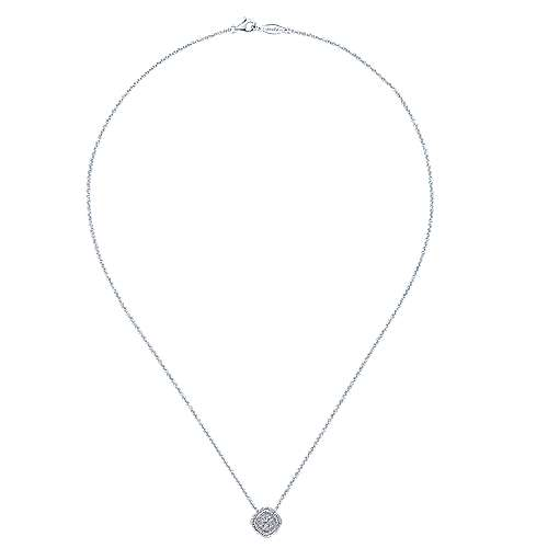 14k White Gold Hampton Fashion Necklace angle 2
