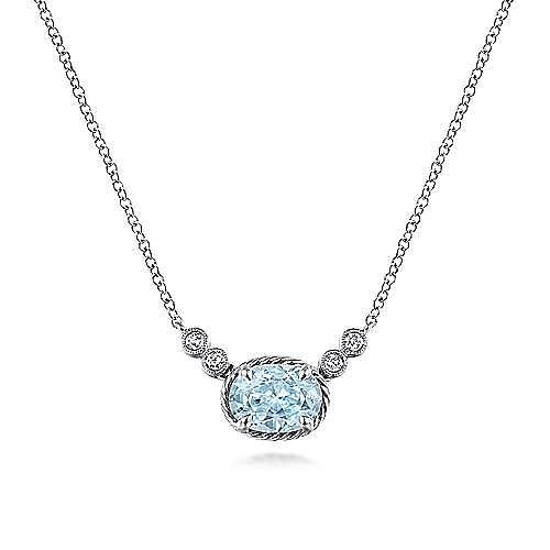 14k White Gold Hampton Fashion Necklace
