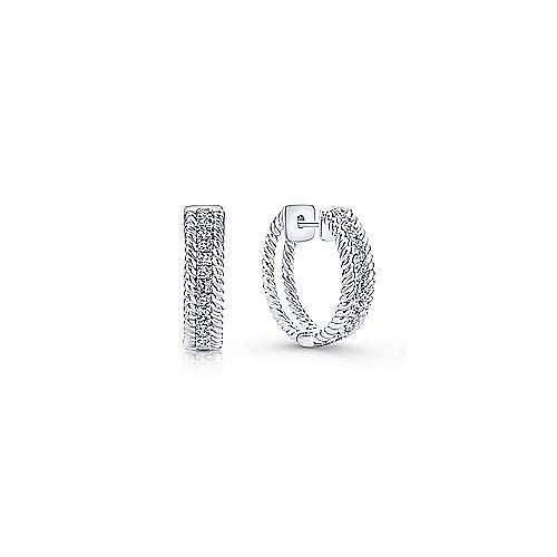 Gabriel - 14k White Gold Hampton Huggie Earrings