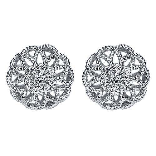 Gabriel - 14k White Gold Hampton Stud Earrings
