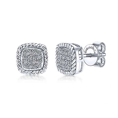 Gabriel - 14k White Gold Hampton Stud Earrings