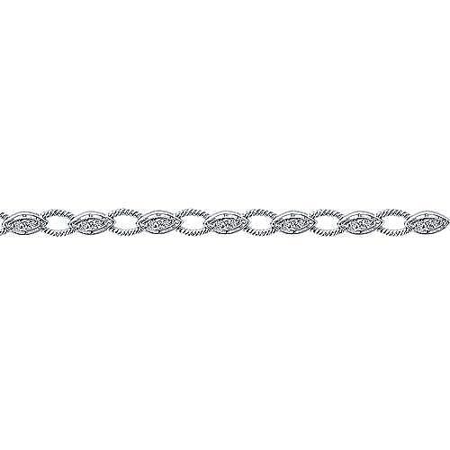 14k White Gold Hampton Tennis Bracelet angle 2