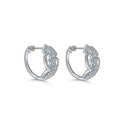 Gabriel - 14k White Gold Hoops Classic Hoop Earrings